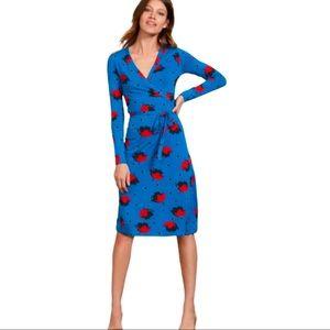 Boden Floral Wrap Dress Viscose Rayon Blend size 6